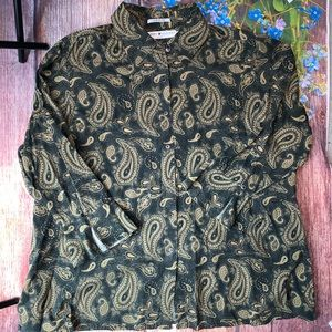 Tommy Hilfiger Woman Paisley Blouse Bell Sleeve 22